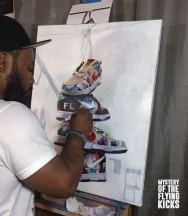 Rapheal Painting the SB Beranrd and FLOM Dunks