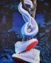 Louboutin White Python