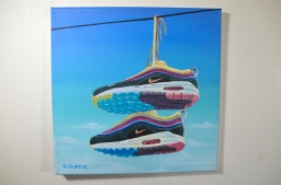 "AM 1 98 Wortherspoon 12x12"" acrylic on canvas"
