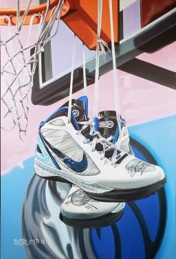 "Dirk Nowitzki's 24x36"" acrylic on canvas"