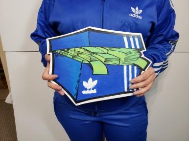 Adidas Blue SnkrMoney Box