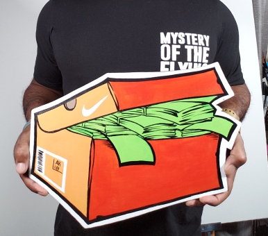 Classic orange Nike SnkrMoney Box