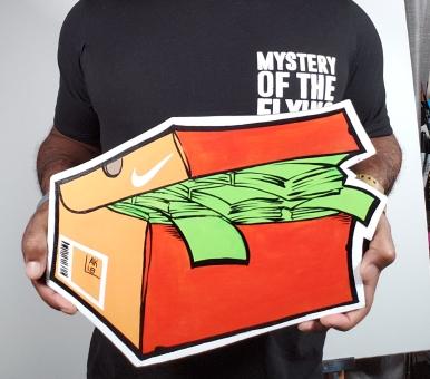 Classic orange Nike SnkrMoney Box
