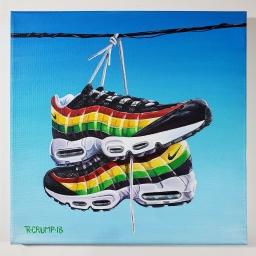 """AM 95 Jamaica 12x12"""" acrylic on canvas"""