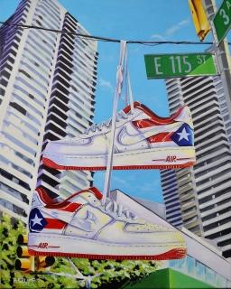 """Harlem AF1 PR 18x24"""" acrylic on canvas"""
